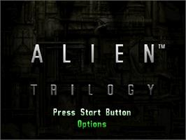 Title screen of Alien Trilogy on the Sega Saturn.