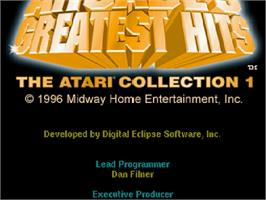 Title screen of Arcade's Greatest Hits: The Atari Collection 1 on the Sega Saturn.
