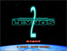 Title screen of Assault Suit Leynos 2 on the Sega Saturn.