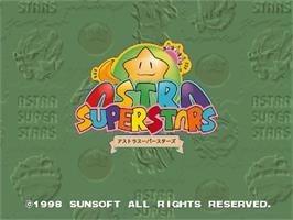 Title screen of Astra SuperStars on the Sega Saturn.