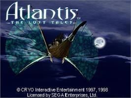 Title screen of Atlantis: The Lost Tales on the Sega Saturn.