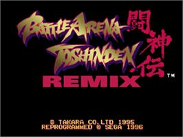 Title screen of Battle Arena Toshinden Remix on the Sega Saturn.