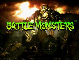 Title screen of Battle Monsters on the Sega Saturn.