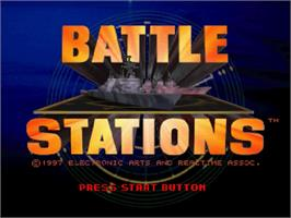 Title screen of Battle Stations on the Sega Saturn.