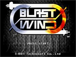 Title screen of Blast Wind on the Sega Saturn.