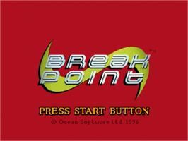 Title screen of Break Point on the Sega Saturn.