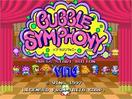 Title screen of Bubble Symphony on the Sega Saturn.