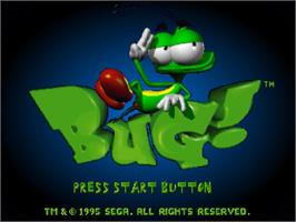Title screen of Bug on the Sega Saturn.