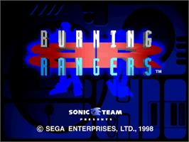 Title screen of Burning Rangers on the Sega Saturn.
