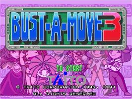 Title screen of Bust a Move 3 on the Sega Saturn.