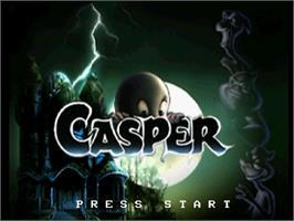 Title screen of Casper on the Sega Saturn.