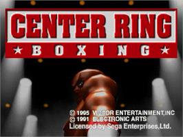 Title screen of Center Ring Boxing on the Sega Saturn.