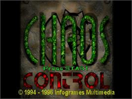 Title screen of Chaos Control on the Sega Saturn.