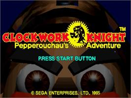 Title screen of Clockwork Knight on the Sega Saturn.