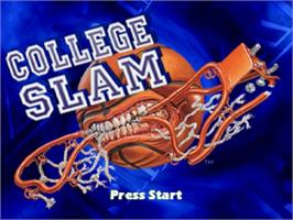 Title screen of College Slam on the Sega Saturn.