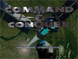 Title screen of Command & Conquer on the Sega Saturn.