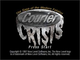 Title screen of Courier Crisis on the Sega Saturn.