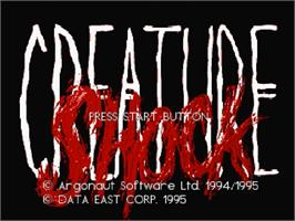 Title screen of Creature Shock on the Sega Saturn.