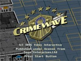 Title screen of Crime Wave on the Sega Saturn.