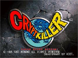 Title screen of Crypt Killer on the Sega Saturn.