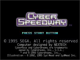 Title screen of Cyber Speedway on the Sega Saturn.
