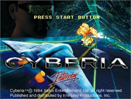 Title screen of Cyberia on the Sega Saturn.