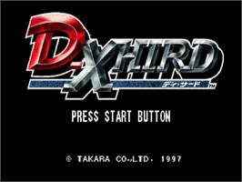 Title screen of D-Xhird on the Sega Saturn.