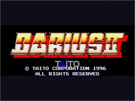 Title screen of Darius II on the Sega Saturn.