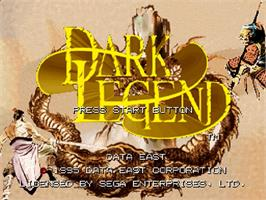 Title screen of Dark Legend on the Sega Saturn.