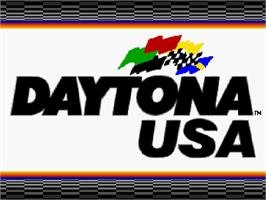 Title screen of Daytona USA on the Sega Saturn.