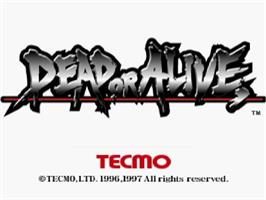 Title screen of Dead or Alive on the Sega Saturn.