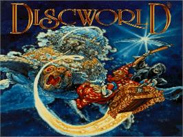 Title screen of Discworld on the Sega Saturn.
