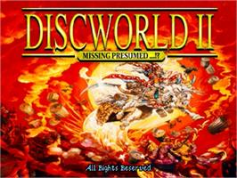 Title screen of Discworld II: Missing, presumed... ! on the Sega Saturn.