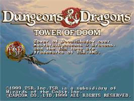 Title screen of Dungeons & Dragons Collection on the Sega Saturn.