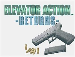 Title screen of Elevator Action Returns on the Sega Saturn.