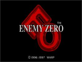 Title screen of Enemy Zero on the Sega Saturn.