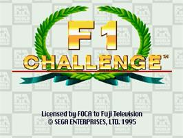 Title screen of F1 Challenge on the Sega Saturn.
