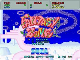 Title screen of Fantasy Zone on the Sega Saturn.
