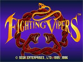 Title screen of Fighting Vipers on the Sega Saturn.