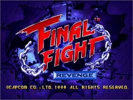 Title screen of Final Fight Revenge on the Sega Saturn.