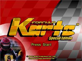 Title screen of Formula Karts: Special Edition on the Sega Saturn.
