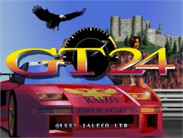 Title screen of GT24 on the Sega Saturn.