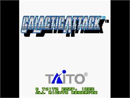 Title screen of Galactic Attack on the Sega Saturn.
