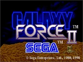 Title screen of Galaxy Force 2 on the Sega Saturn.