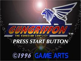 Title screen of Gungriffon: The Eurasian Conflict on the Sega Saturn.