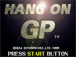 Title screen of Hang-On GP on the Sega Saturn.