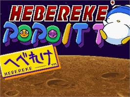 Title screen of Hebereke no Popoitto on the Sega Saturn.