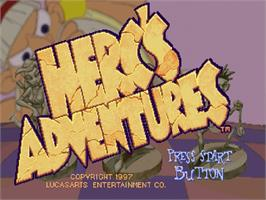 Title screen of Herc's Adventures on the Sega Saturn.