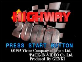 Title screen of Highway 2000 on the Sega Saturn.