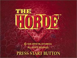 Title screen of Horde on the Sega Saturn.